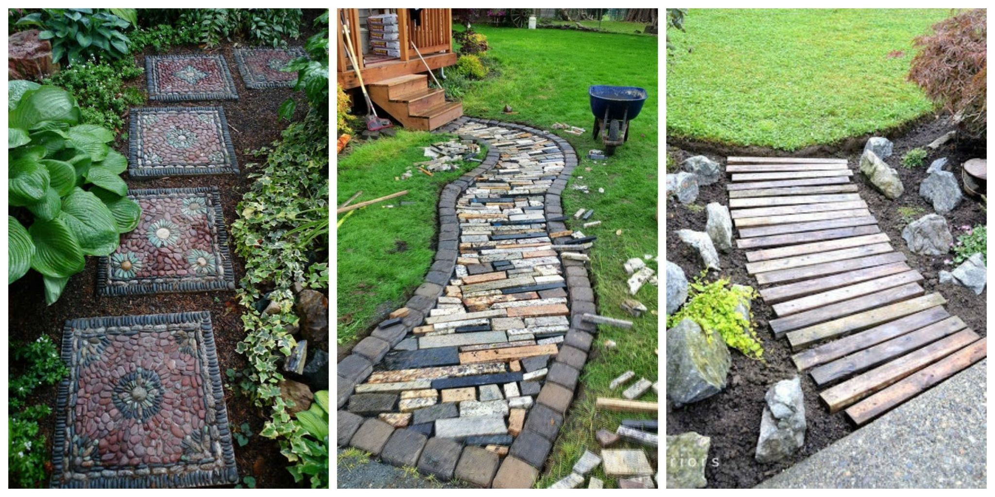 When It Comes To Backyard Pathways, The Options Are Seemingly Endless:  There Are The Standard Brick And Flagstone Pathways, Not To Mention  Reclaimed Wood ...