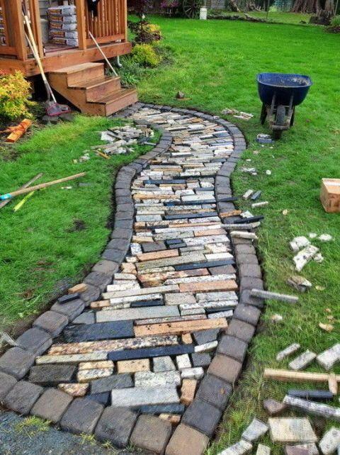 10 diy garden path ideas how to make a garden walkway - River stone walkway ideas seven diy projects ...