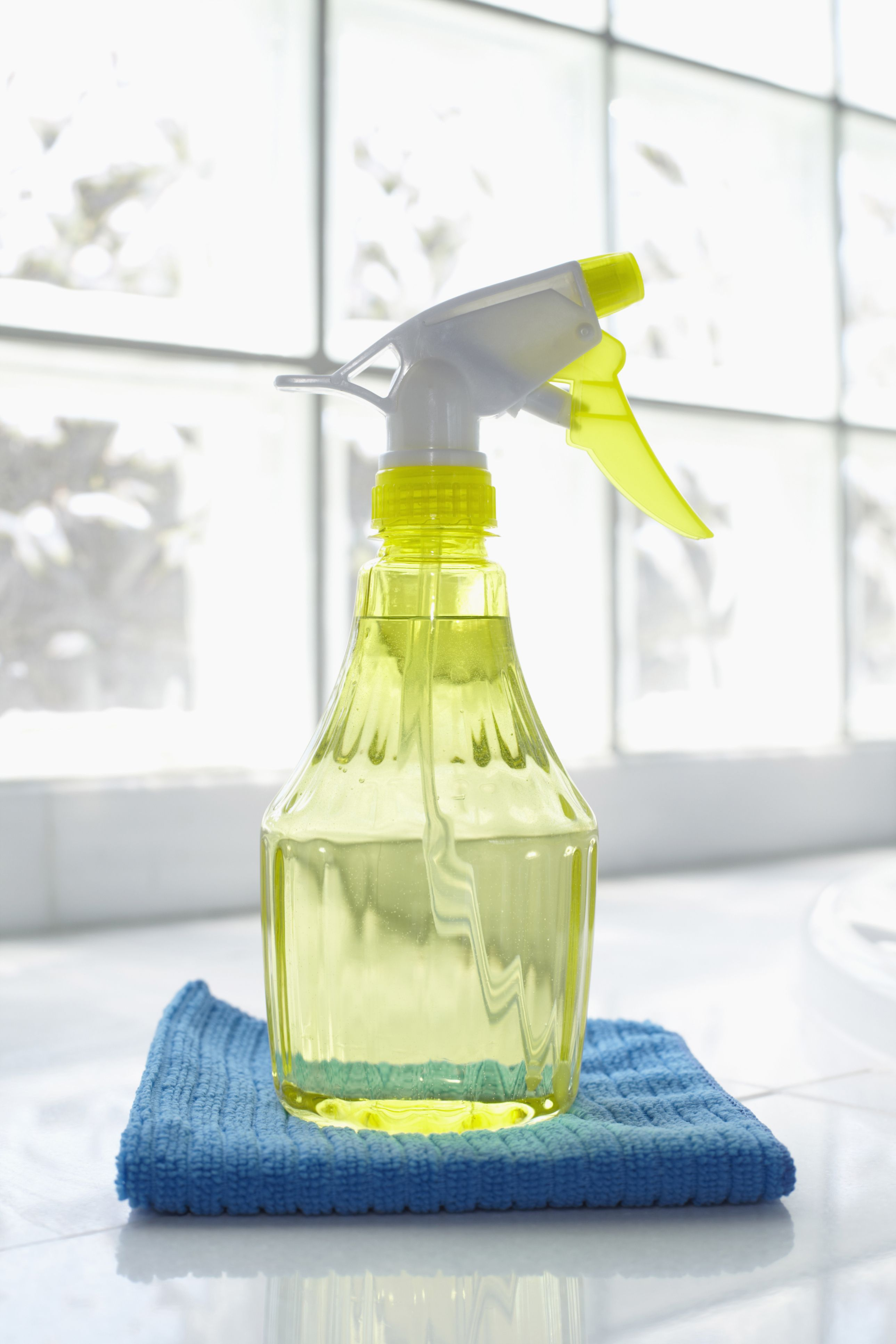 "Here's <a target=""_blank"" href=""http://www.goodhousekeeping.com/home/cleaning/tips/a24885/make-at-home-cleaners/"">the cleaner recipe</a> that will make nearly every surface gleam (especially kitchen counters, appliances, and inside the refrigerator). Combine 4 tablespoons <a target=""_blank"" href=""http://www.goodhousekeeping.com/home/cleaning/tips/a24885/make-at-home-cleaners/"">baking soda</a> and 1 quart warm water, and use it with a sponge to wipe messes away."