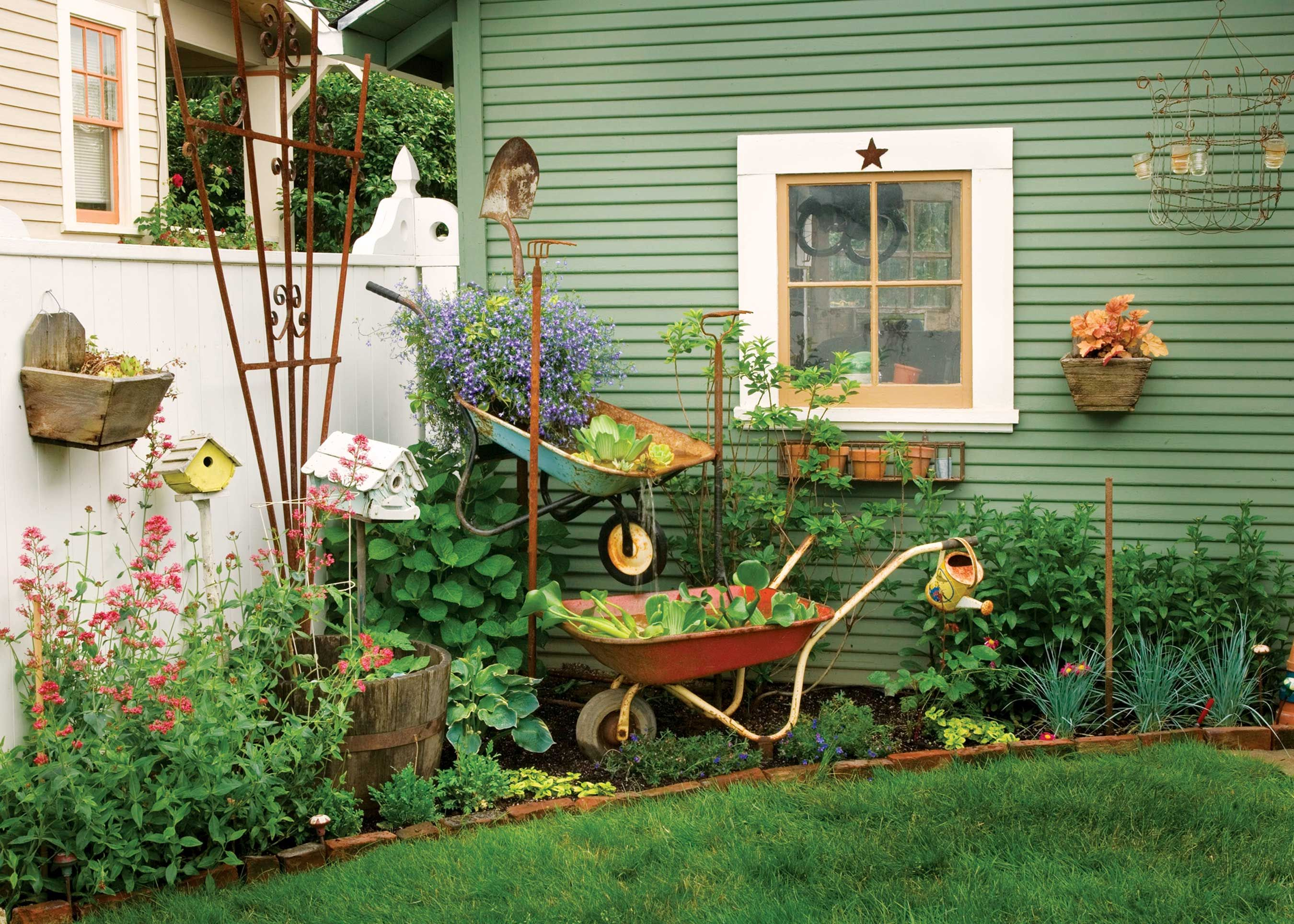 Wheelbarrow Crafts - Ways to Repurpose a Wheelbarrow