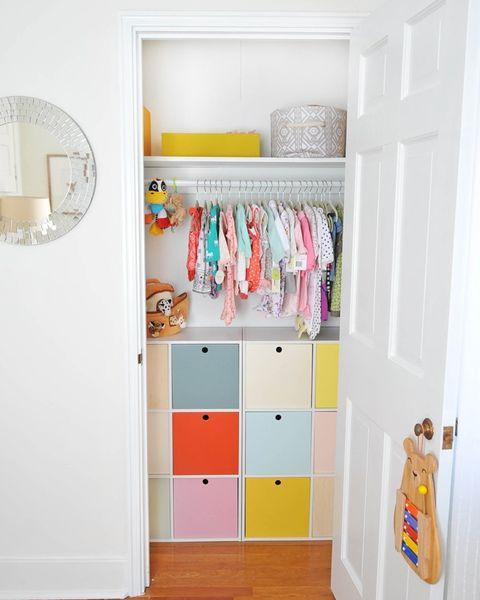 Room, Interior design, Wall, Floor, Flooring, Shelving, Closet, Teal, Cupboard, Cabinetry,