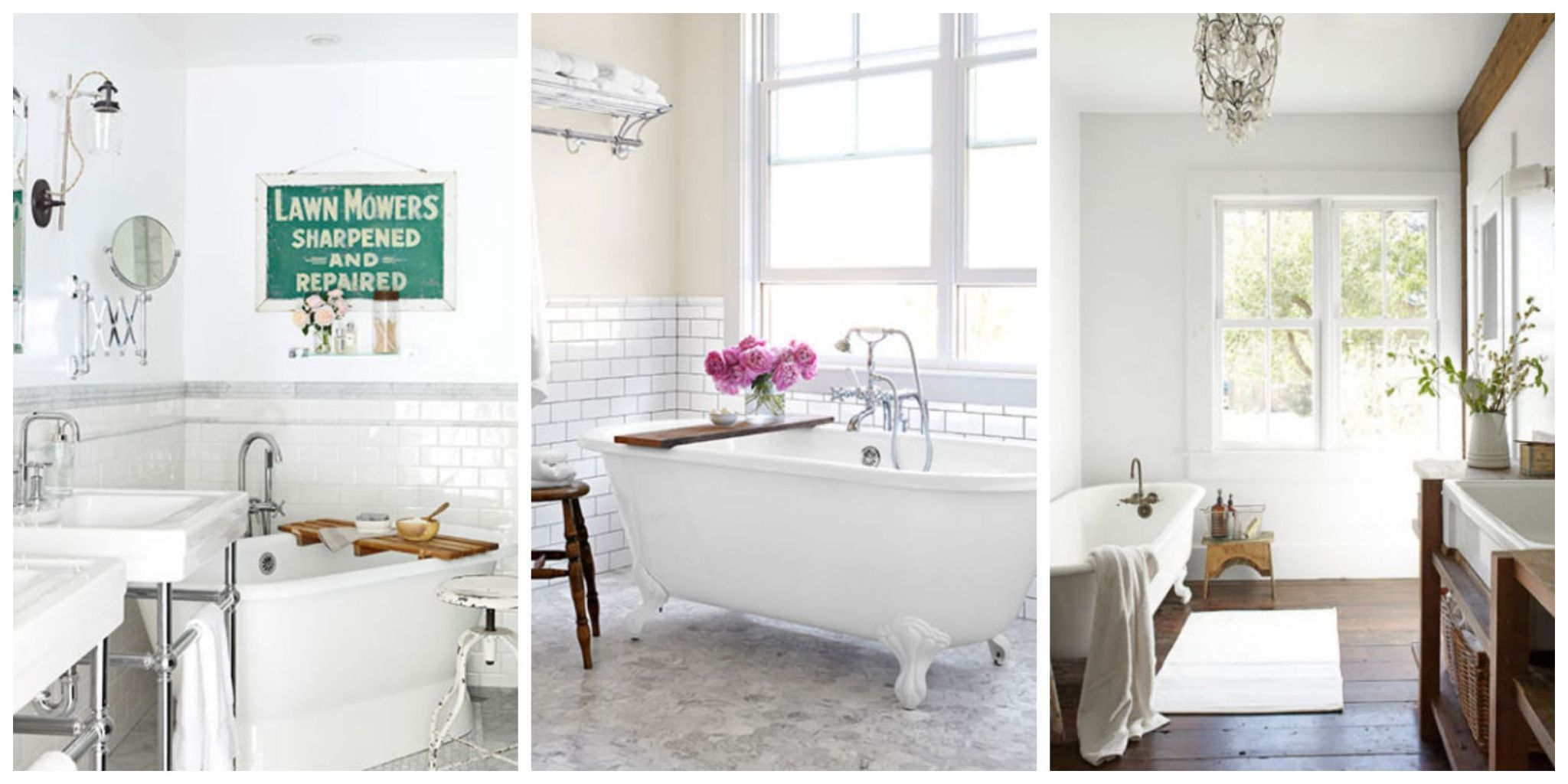 Transform your bathroom or powder room into a clean relaxing and bright space with these decorating tips. Plus get more bathroom ideas! & 30 White Bathroom Ideas - Decorating with White for Bathrooms
