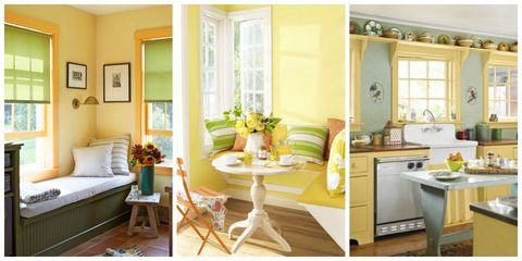 Whether A Swath Of Canary Or Hint Golden Bring The Sunshine Inside With Yellow Wall Paint Decor And Accents