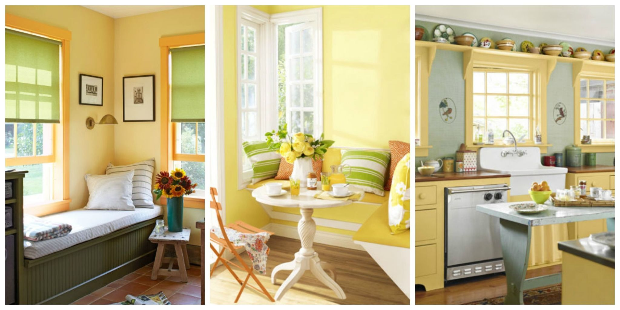 Charming Whether A Swath Of Canary Or A Hint Of Golden, Bring The Sunshine Inside  With Yellow Wall Paint, Decor, And Accents.