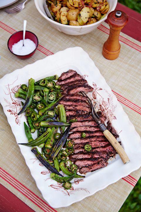 Food, Dishware, Beef, Cuisine, Tableware, Dish, Plate, Meal, Ingredient, Produce,