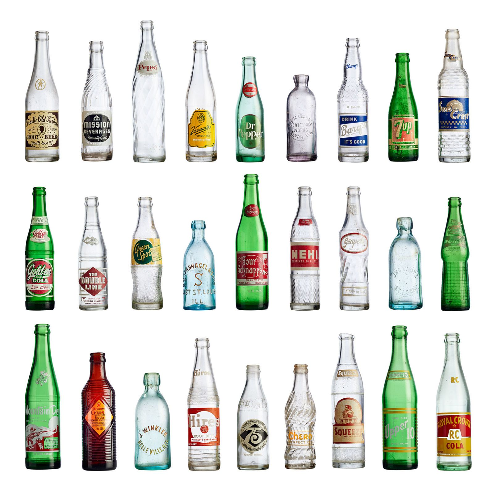 antique 7up bottles by year