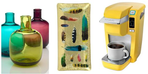 Yellow, Serveware, Bottle, Drinkware, Teal, Glass bottle, Small appliance, Cup, Creative arts, Natural material,