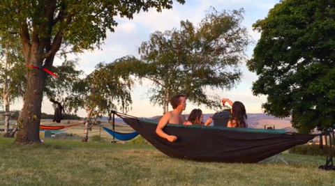 Nature, Hammock, Recreation, Leisure, Tree, Outdoor recreation, Summer, Woody plant, People in nature, Vacation,