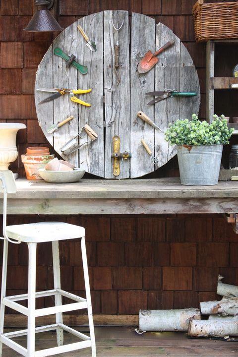 Wood, Flowerpot, Houseplant, Bar stool, Stool, Plywood, Herb, Still life photography,