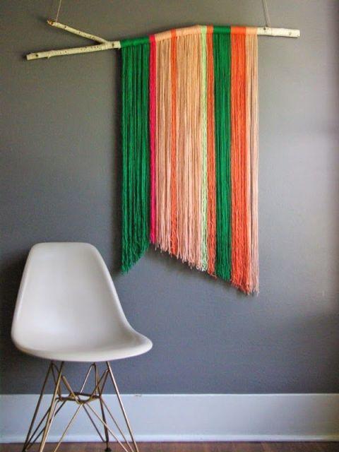Charming Courtesy Of Oleander U0026 Palm. Yarn Wall Hanging