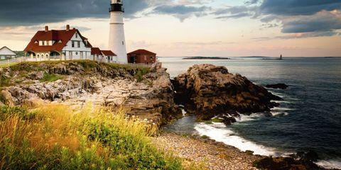 Coastal and oceanic landforms, Tower, Coast, Shore, Beacon, Ocean, Sea, Promontory, Rock, Headland,