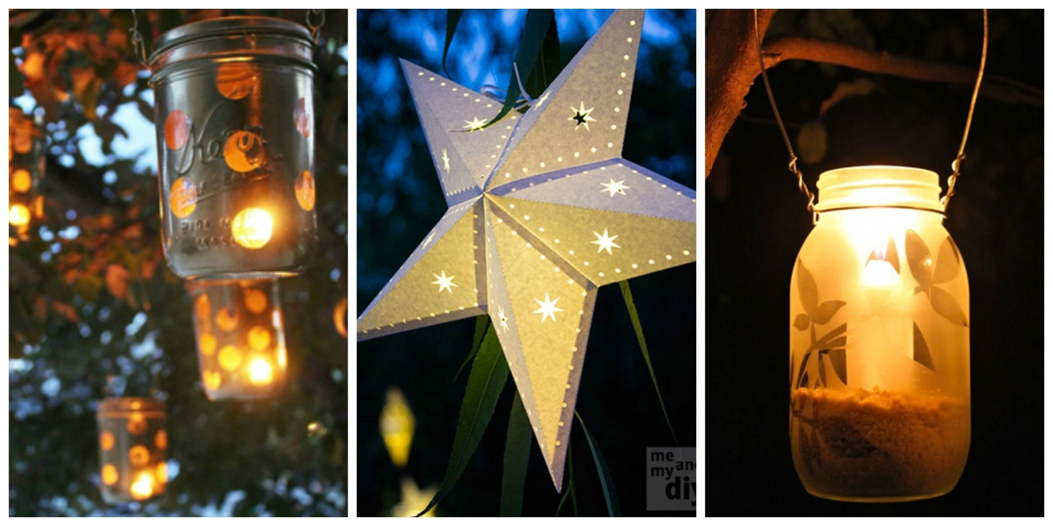 When The Sun Goes Down, Let These Gorgeous And Easy To Make Lanterns Shine.