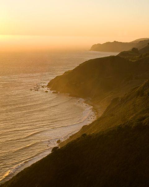 The coastline in Big Sur California