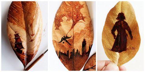 Leaf, Costume accessory, Illustration, Peach, Sun hat, Costume design, Feather,