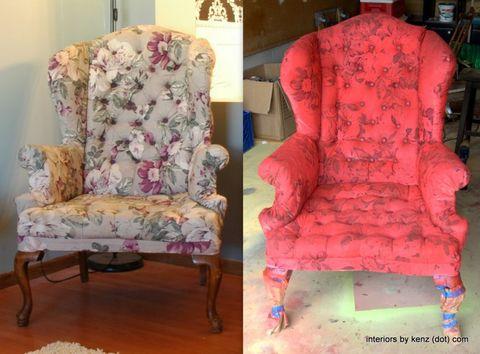 Interior design, Furniture, Magenta, Interior design, Peach, Creative arts, Velvet, Natural material, Cushion, Club chair,