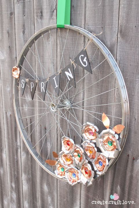 Repurposed Bicycle Crafts Diy Bicycle Ideas