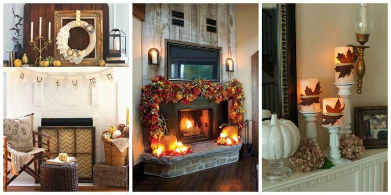 35 fall mantel decorating ideas halloween mantel decorations give your fireplace a makeover this fall with these mantel decorating ideas that celebrate the autumn harvest halloween and everything in between teraionfo