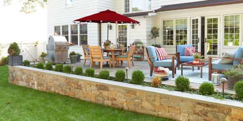 Plant, Property, Real estate, Furniture, Outdoor furniture, Umbrella, Home, Chair, House, Garden,