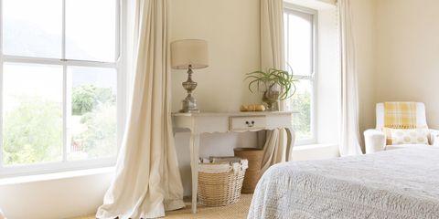 Interior design, Room, Window, Textile, Floor, Flooring, Window treatment, Linens, Window covering, Home,
