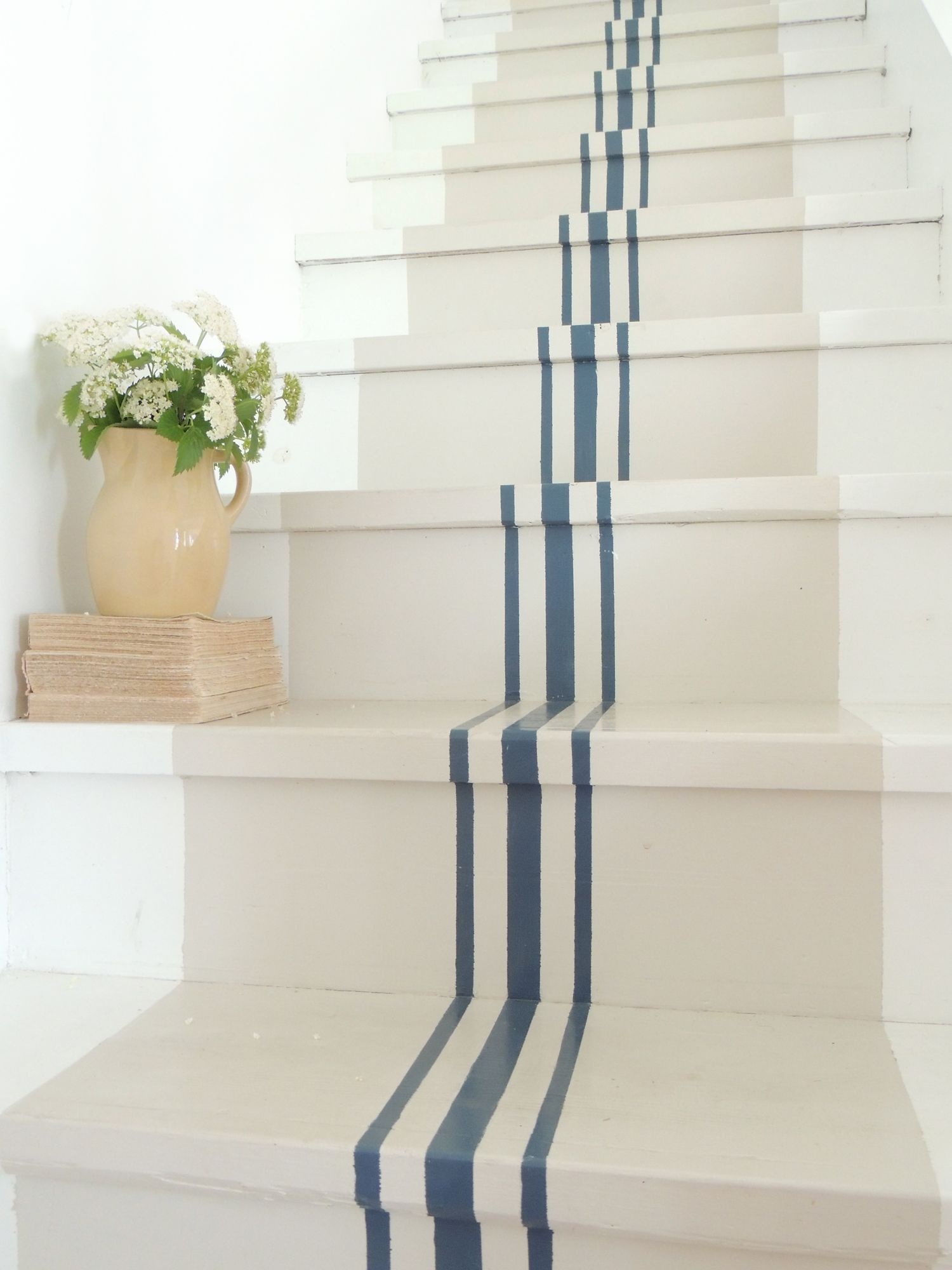 striped painted stairs