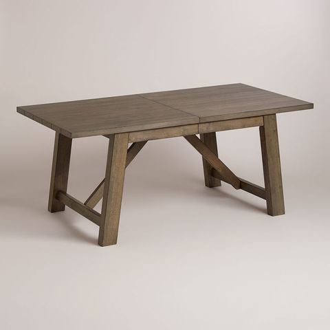 Wood, Table, Furniture, Outdoor furniture, Rectangle, Hardwood, Grey, Outdoor table, Beige, Wood stain,