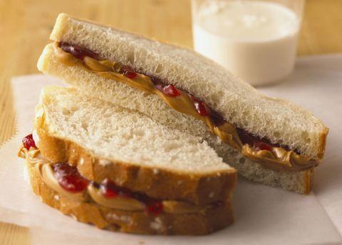 Food, Finger food, Cuisine, Sandwich, Ingredient, Dish, Baked goods, Breakfast, Milk, Fast food,
