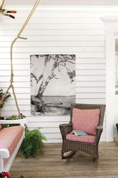 Wood, Furniture, Hardwood, Home, Outdoor furniture, Shade, Flowerpot, Twig, Deck, Siding,