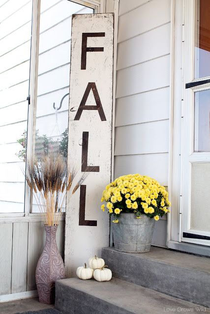 fall porch decorating ideas fall sign