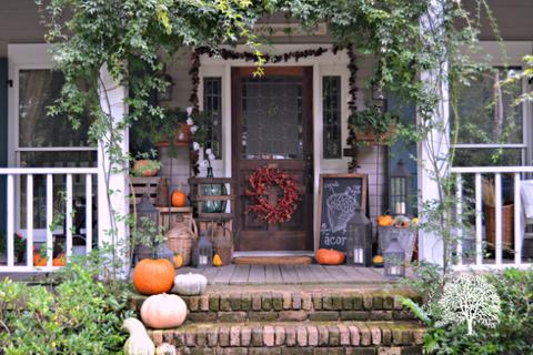 Fall Porch Decorating Ideas Autumn Decor