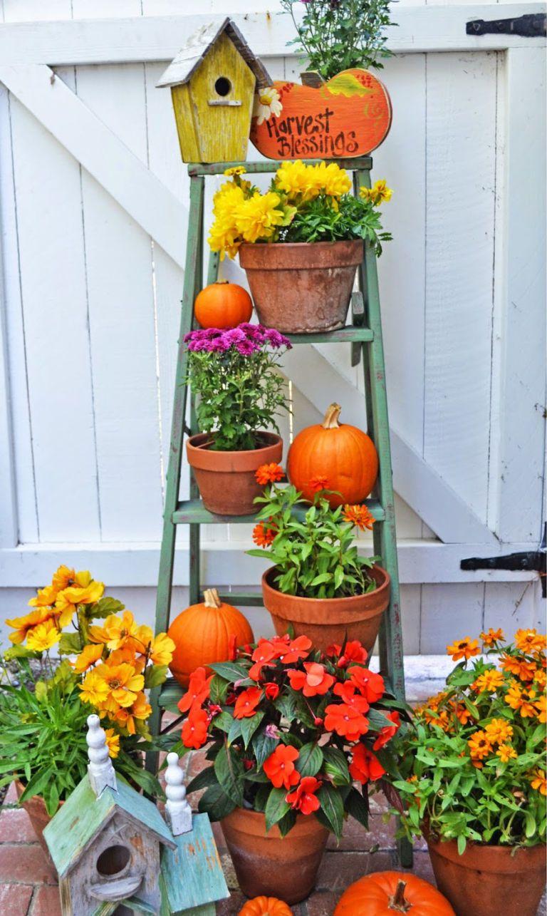 Beautiful Fall Porch Decorating Ideas Ladder