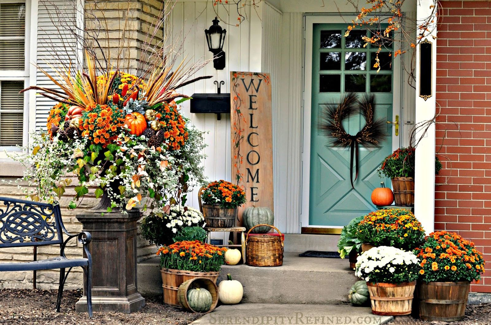 55 Fall Porch Decorating Ideas - Outdoor Fall Decor