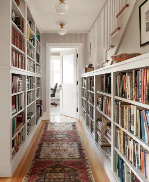 Wood, Room, Floor, Interior design, Shelf, Flooring, Shelving, Ceiling, Wall, Bookcase,