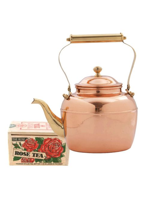 Peach, Copper, Stovetop kettle, Metal, Lid, Still life photography, Box, Fruit, Antique, Pottery,
