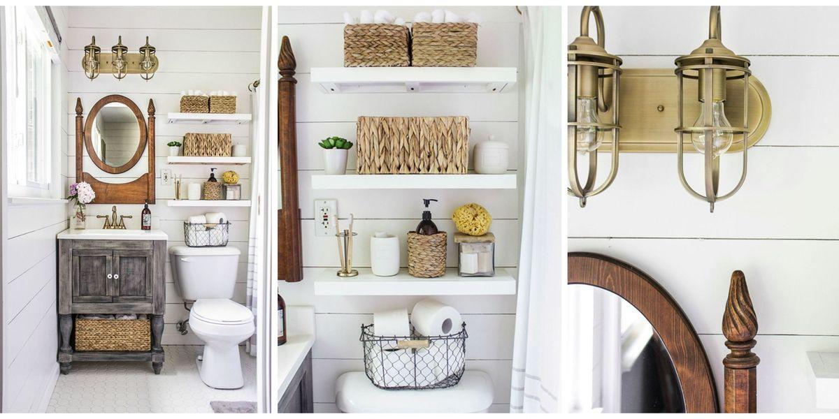 Country Bathroom Decorating Ideas: Shades Of Blue Interiors Bathroom Remodel