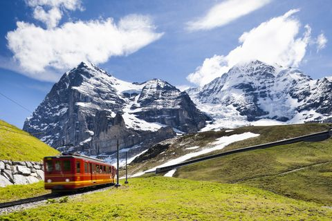 train to jungfraujoch swiss alps