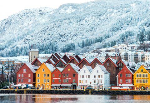 Bergen wharf Bryggen Norway