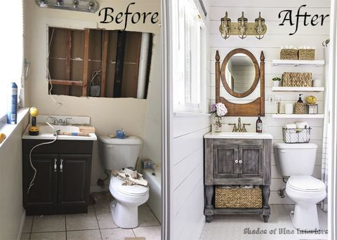 Shades Of Blue Interiors Bathroom Remodel Country