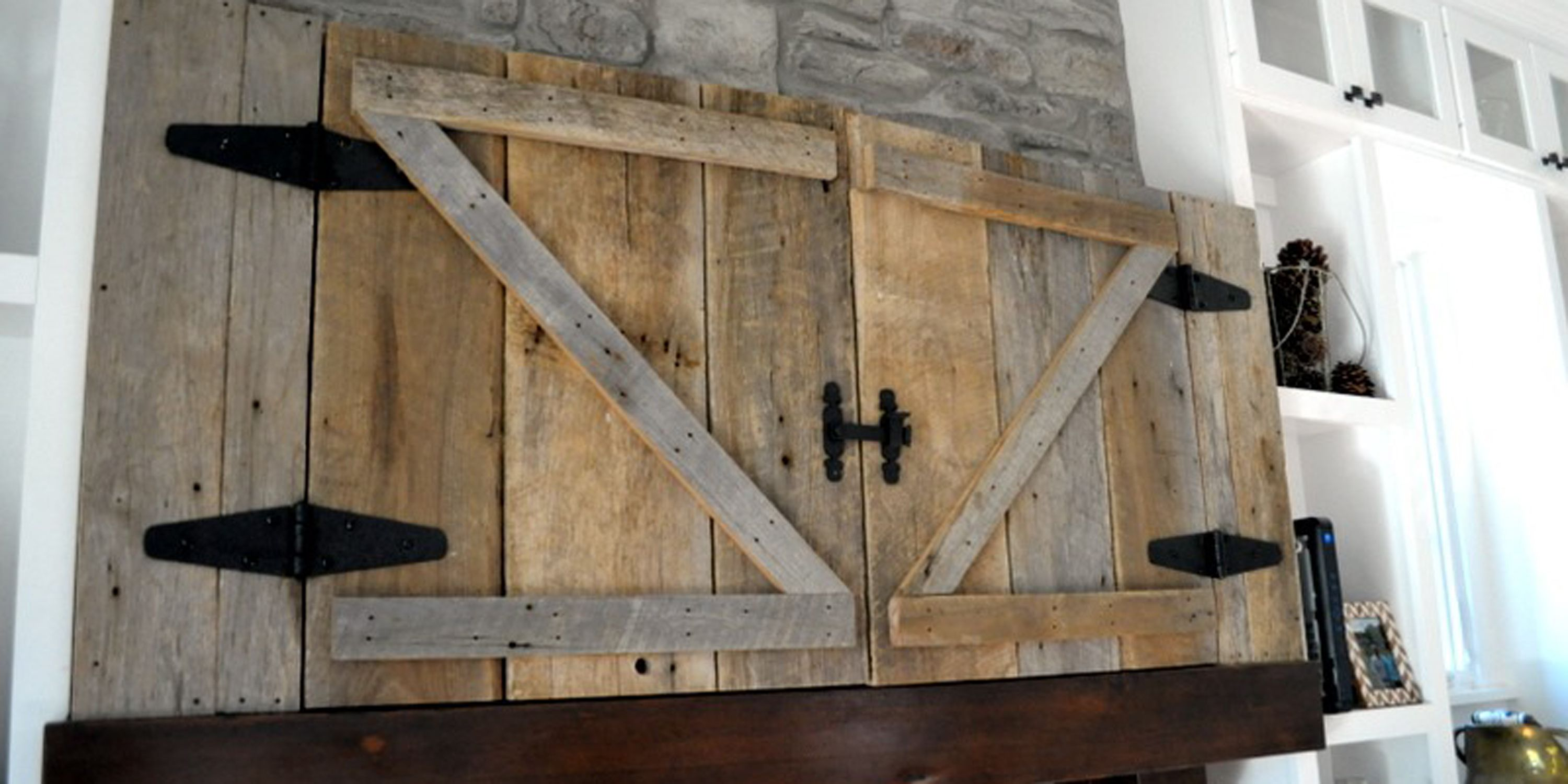 mount fresh door barn farmhouse kitchen designs best wall cabinet pics barns cabinets tv cover driftwood of gray