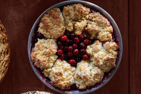 Cranberry-Cherry Cobbler Pie