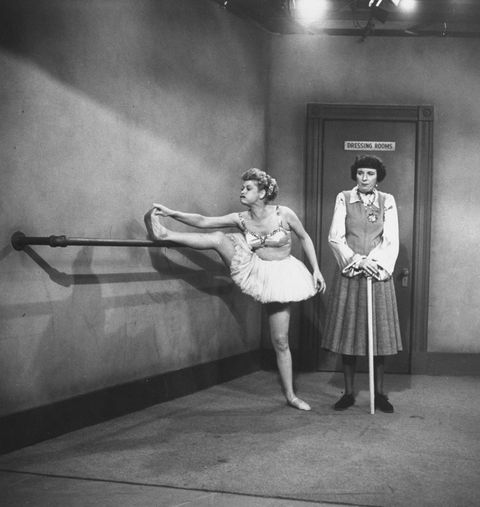 """<p>Lucille auditioned for a chorus line spot in a <a href=""""https://books.google.com/books?id=j66uvWzubRwC&pg=PA29&lpg=PA29&dq=lucille+ball+chorus+line&source=bl&ots=n1NEpsQ6ac&sig=Q_IZF-CB49eYsVmQIoweoaI7Udw&hl=en&sa=X&ved=0CD0Q6AEwCGoVChMIqLafot-UxwIVRjo-Ch13bgvN#v=onepage&q=lucille%20ball%20chorus%20line&f=false"""" target=""""_blank"""">local production</a> when she was just 12 (!) thanks to the support of her stepfather. After getting the role, she began to itch for an acting career of her own. </p>"""