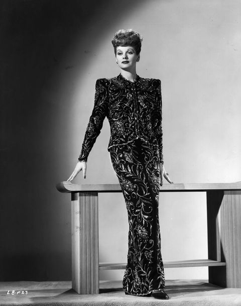 <p>Before she become one of history's most iconic comediennes, Lucille struggled to find success in acting. But rather than move back home in the face of adversity, she made end's meet as a model (you know, no big deal). In this 1955 shot, she's at a fashion preview in Hollywood. </p>