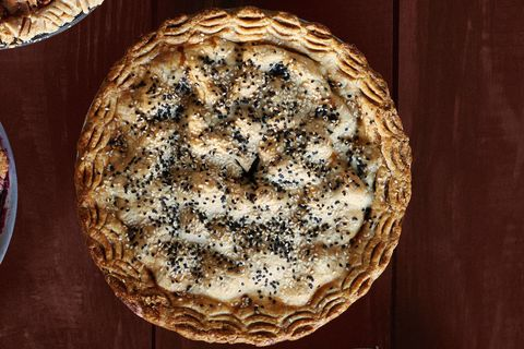 Pear, Date, and Sesame Pie