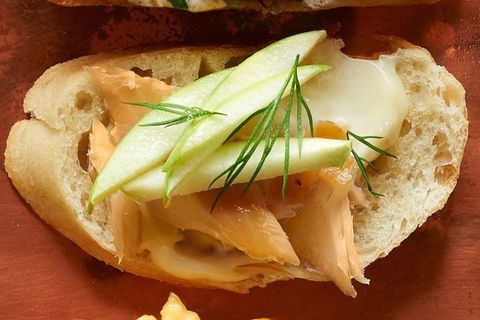Smoked Trout and Apple Crostini