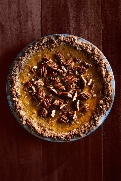 pumpkin pie with oat-pecan crust recipe