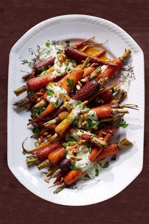 Orange Carrots with Yogurt-Parsley Dressing
