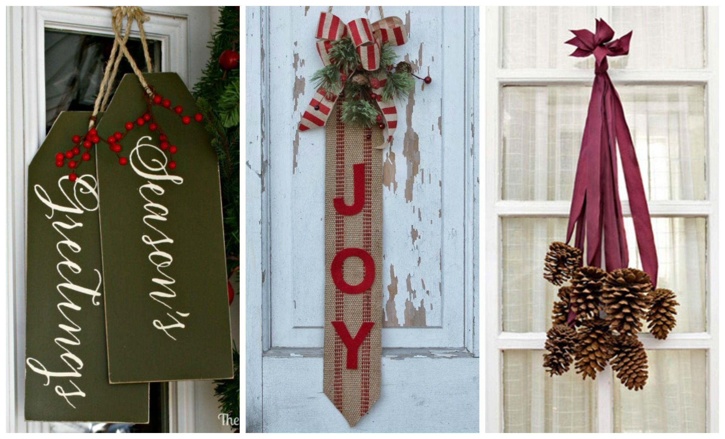14 DIY Christmas Door Decorations Holiday