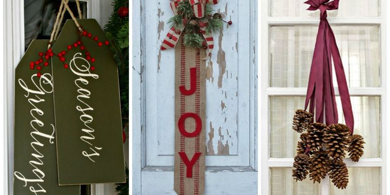 These Out Of The Box Diy Door Decorations Will Brighten Up Your Front Porch And Help Spread Christmas Cheer This Holiday Season