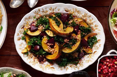 roasted beet and squash salad
