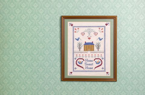 Textile, Pattern, Teal, Embroidery, Creative arts, Visual arts, Symmetry, Cross-stitch, Craft, Motif,
