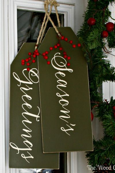 Weater Proof Christmas Gift Tag Door Decoration